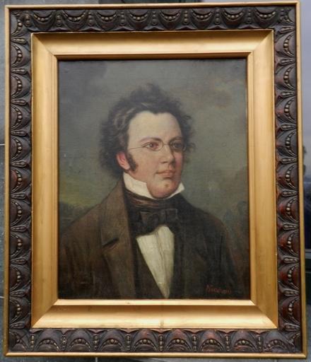 Vladimir Egorovitch MAKOVSKI - 绘画 - Portrait of Franz Peter Schubert (1797-1828)