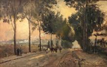 Albert Marie LEBOURG - Peinture - Rouen, soleil levant