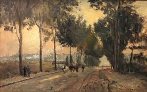 Albert Marie LEBOURG - Painting - Rouen, soleil levant