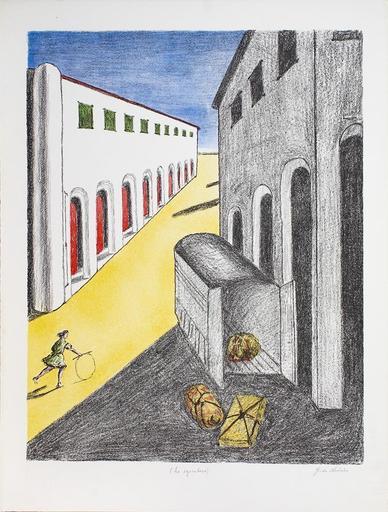 Giorgio DE CHIRICO - Grabado - Lo sgombero, 1970