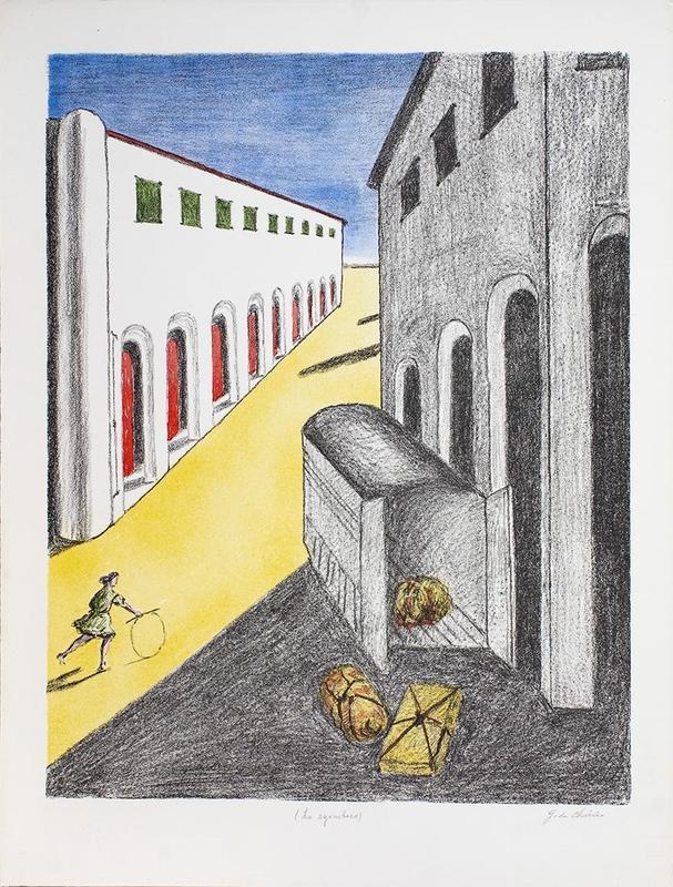 乔治•德•基里科 - 版画 - Lo sgombero, 1970