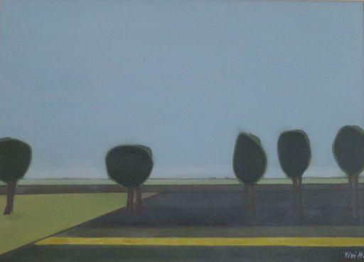 Vivi HERREBOUDT - Pittura - Silent trees    (Cat N° 5643)