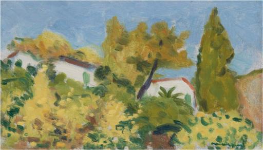 Albert MARQUET - Painting - Vue à travers les arbres