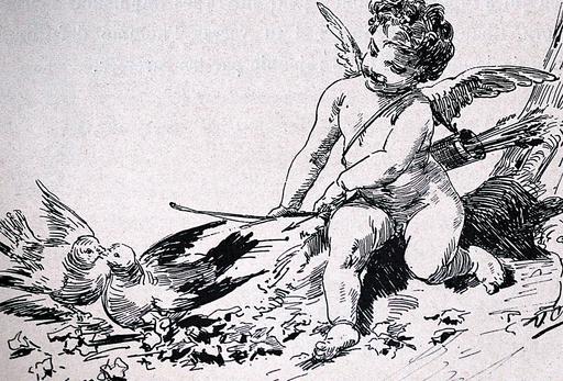 Ulpiano CHECA Y SANZ - Zeichnung Aquarell - « La española » « L'espagnole » Astruc