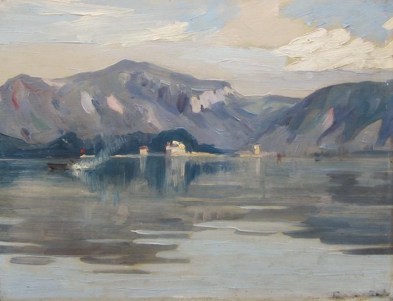 José MARQUES CAMPAO - Pittura - Paysage à la Seyne-sur-Mer dans la rade de Toulon