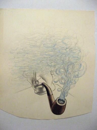 Georges ROHNER - Dessin-Aquarelle - LA FUMEE MONTE A LA TÊTE