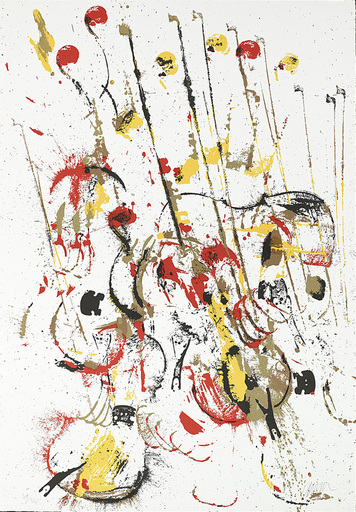 Fernandez ARMAN - Grabado - Melody for Strings III