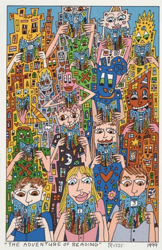 James RIZZI - Print-Multiple - The Adventure of Reading