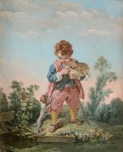 弗朗索瓦·布歇 - 绘画 - Le Petit dénicheur de merles/La Petite oiselière