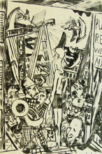 Max BECKMANN - Print-Multiple - Tall Man, from: Annual Fair