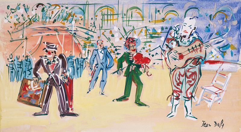 Jean DUFY - Dessin-Aquarelle - Le trouble-fête