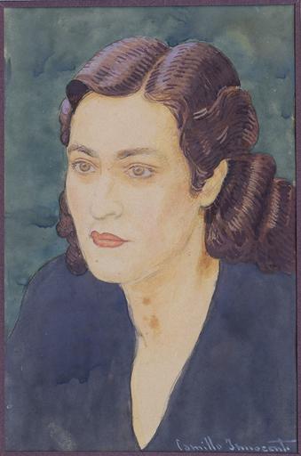 Camillo INNOCENTI - Dibujo Acuarela - ritratto di Anna