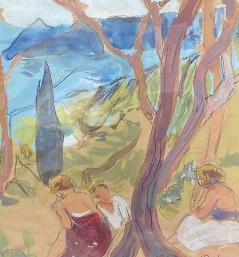 Yvonne BRUDO - Drawing-Watercolor - Bord de mer