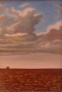 Fred ZELLER - Pittura - Le Passage des oies sauvages
