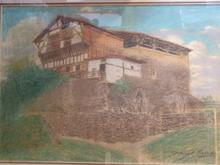 Manuel LOSADA - Dibujo Acuarela - Torre Medieval de Ceberio