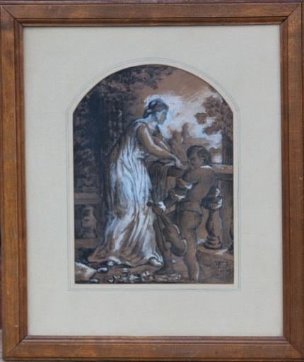 Wilhelm TRÜBNER - Drawing-Watercolor - Monscheinserenade