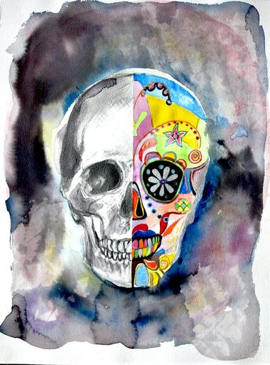 Nathalie BIBOUGOU - Drawing-Watercolor - « Calaveras »