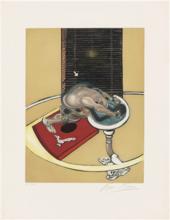 弗朗西斯•培根 - 版画 - Figure at a Washbasin