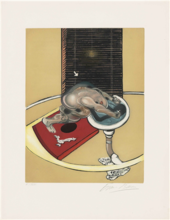 Francis BACON - Estampe-Multiple - Figure at a Washbasin