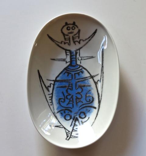 """Wifredo LAM - Ceramic - Porcelana di Albisola - 9"""" x 6"""" cheese plate"""