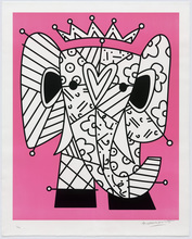 Romero BRITTO - Grabado - The Pink Elephant