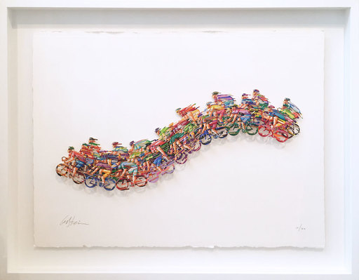 David GERSTEIN - Drawing-Watercolor - Peloton Wave