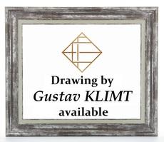 Gustav KLIMT - Dessin-Aquarelle - Etude