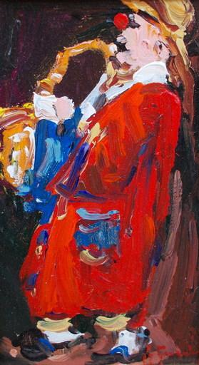 Guy LEGENDRE - Pintura - Le clown musicien