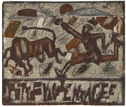 Fernand LÉGER - Painting - La poursuite de la vache enragée