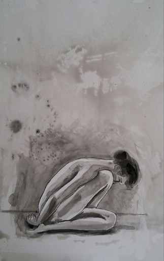 Jacob GILDOR - Drawing-Watercolor - Nude
