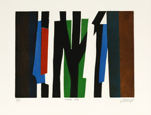 Bertrand DORNY - Grafik Multiple -  Central park