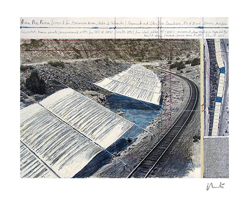 CHRISTO - Print-Multiple - Over The Arkansas River, Project A