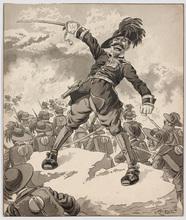 Heinrich KRENES - Drawing-Watercolor - Austrian Cartoon of WW I by Heinrich Krenes, ca 1915