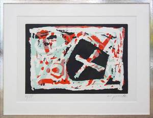 A.R. PENCK - Estampe-Multiple - Pentagon X ('Pirate flag')