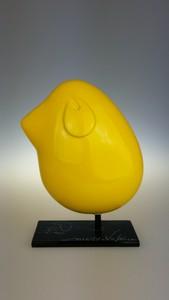 Valérie MARTY - Sculpture-Volume - Piaf jaune