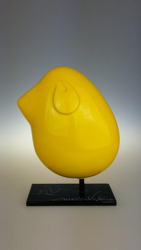Valérie MARTY - Skulptur Volumen - Piaf jaune