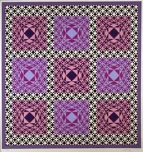 Victor VASARELY - Estampe-Multiple - Purple squares