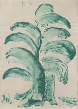 Paul KLEE - Zeichnung Aquarell - Fontainen-Baum