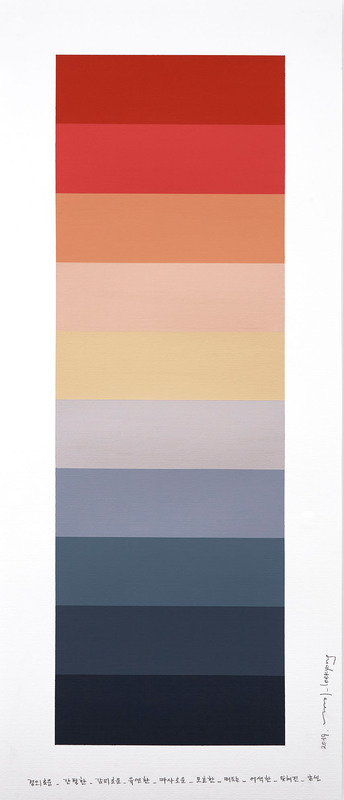 Kyong LEE - Painting - Emotional Color Chart 123