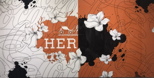 Pierre LAMBLIN - Pittura - Hermes flowers