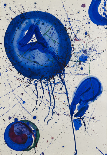 Sam FRANCIS - Drawing-Watercolor - Untitled (SF 60-1135)