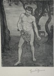 Hans THOMA - Print-Multiple - Der Unkrautsäer