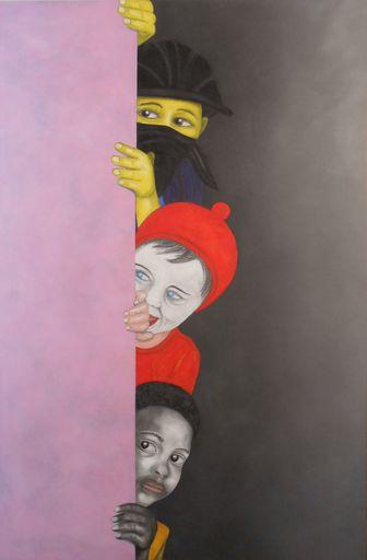 Christian SATIN - Painting - La vie en rose    (Cat N° 5996)