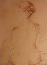 Jaime QUESADA - Dibujo Acuarela - desnudo