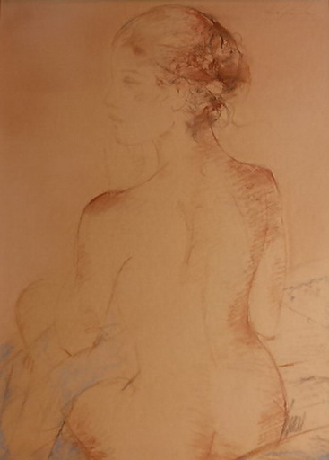 Jaime QUESADA - 水彩作品 - desnudo