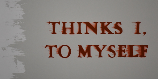 Ed RUSCHA - Stampa Multiplo - Thinks I to Myself