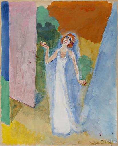 Kees VAN DONGEN - Drawing-Watercolor - Illustration pour : A la recherche du temps perdu de Marcel