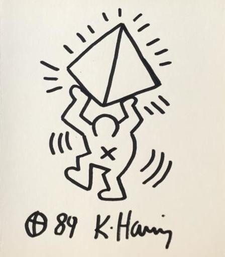 Keith HARING - Dibujo Acuarela - Original drawing
