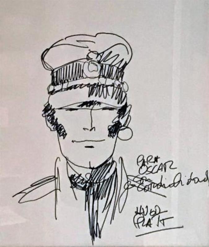 Hugo PRATT - Dibujo Acuarela - Corto Maltese