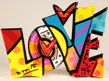 Romero BRITTO - Sculpture-Volume - L O V E